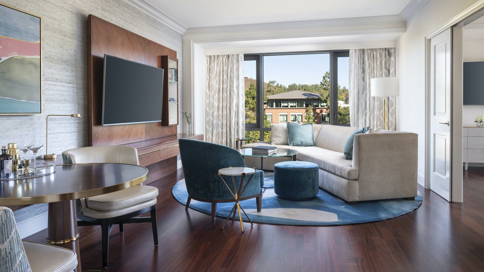 Four Seasons Westlake Village suite with view over gardens