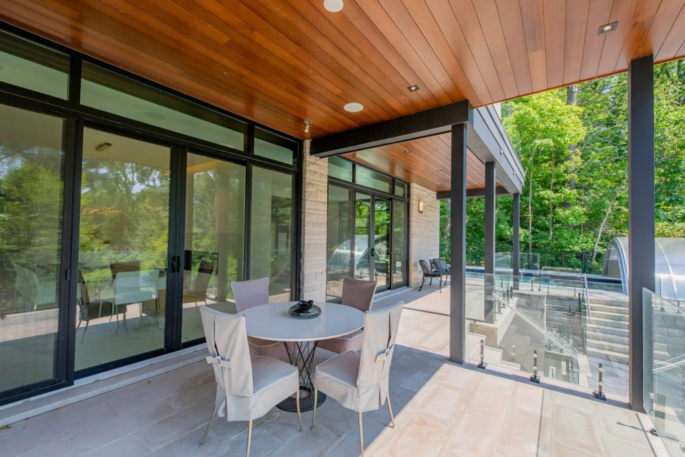 The Glass House features a heated covered patio