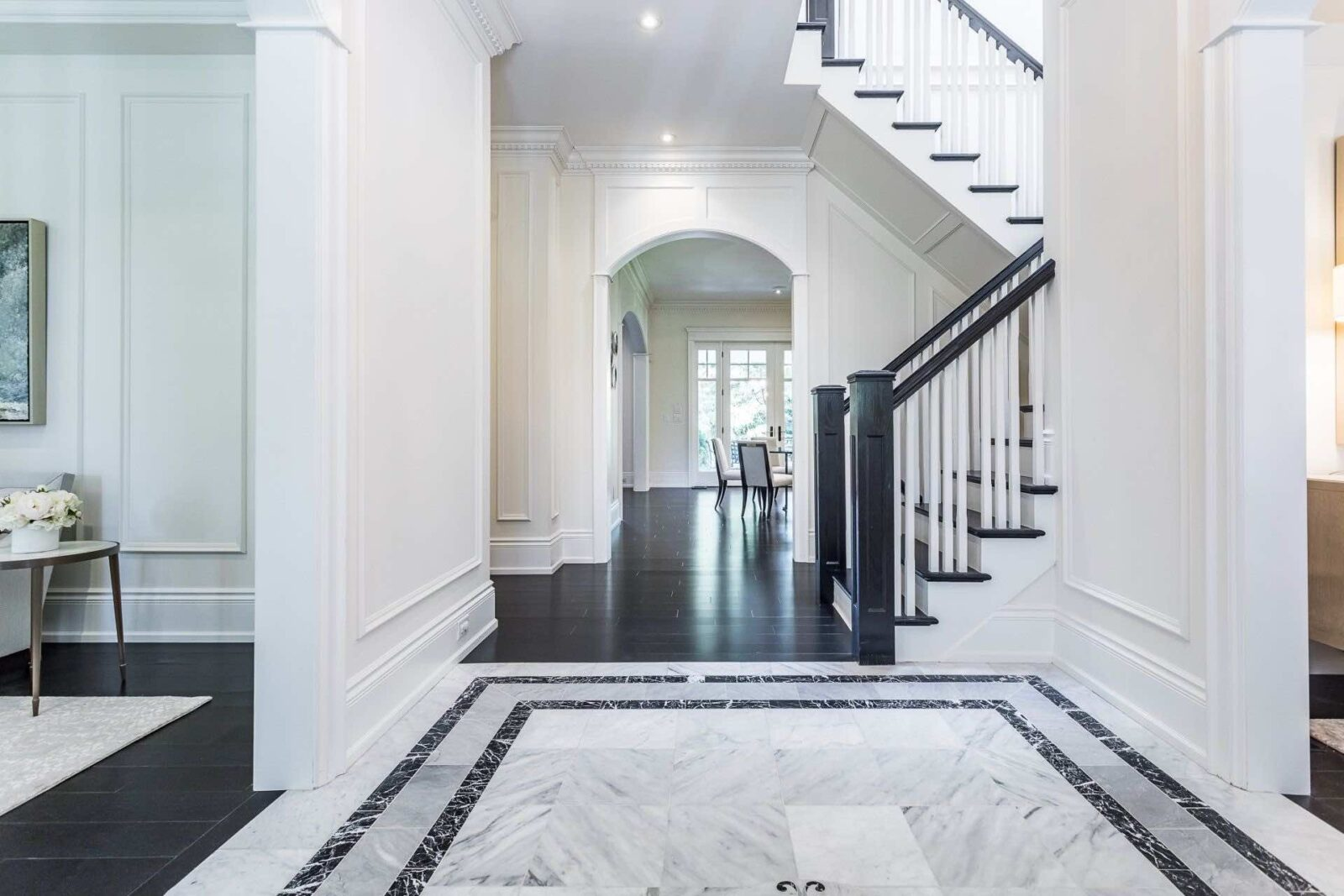 Interior and main hallway of 334 Balsam Drive Georgian-style Oakville real estate