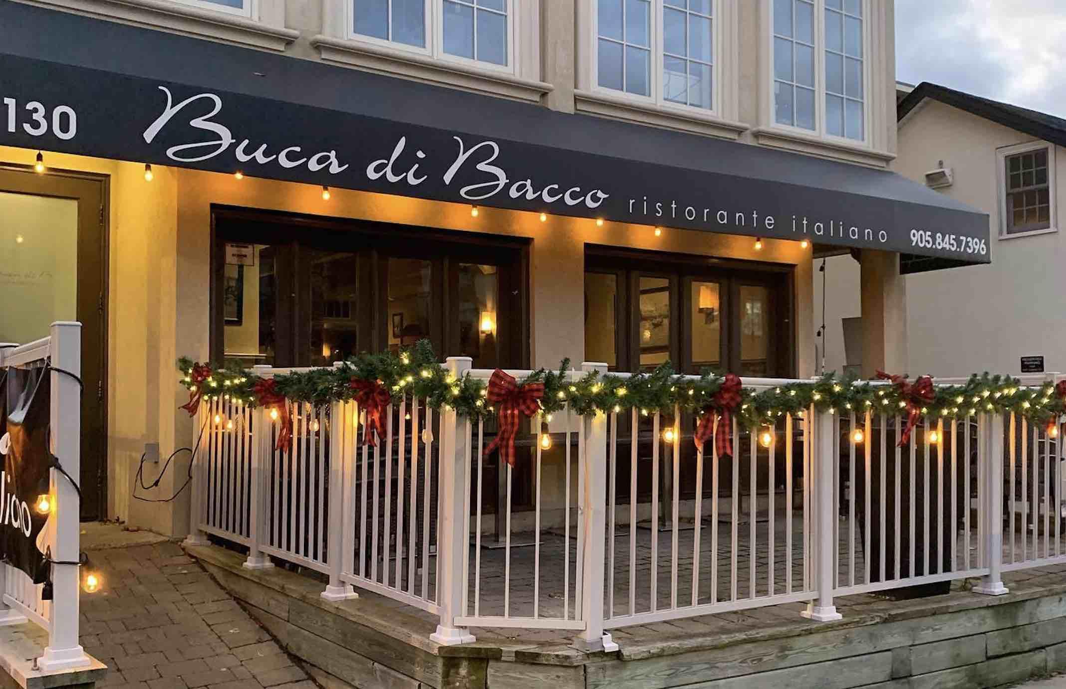 Buca Di Bacco Oakville restaurants outdoor patio