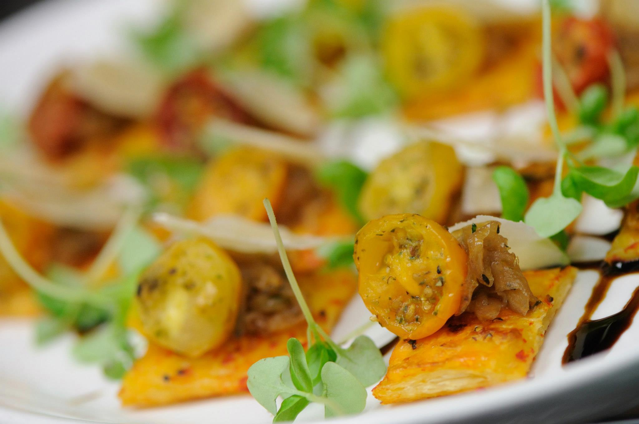 The popular Cucci Oakville restaurants signature dish on display with fresh tomotaoes